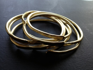 Forged Brass Cuffs